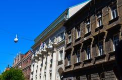 Old  street in Zagreb, Croatia. Royalty Free Stock Photo
