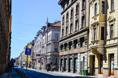 Old  street in Zagreb, Croatia. Royalty Free Stock Images
