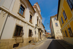 Old Street In Zagreb, Croatia Royalty Free Stock Photo