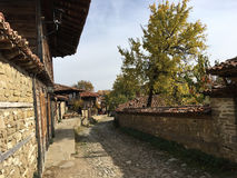 Old street in Zheravna. Beautiful old street in the village Zheravna of Bulgaria stock photography
