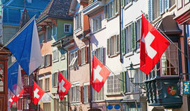 Old street in Zurich Stock Image