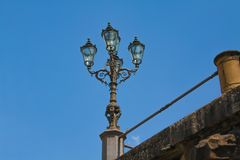 Old Streetlamp in Florence stock image