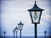 Old streetlamps Stock Images