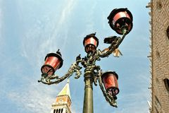 Old streetlight at the St. Mark's, square Royalty Free Stock Image
