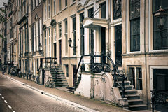 The old streets of Amsterdam Stock Photography