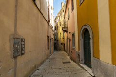 The old streets of the ancient town of Labin, Croatia. Stock Image