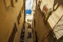 The old streets of the ancient town of Labin, Croatia. Royalty Free Stock Photo