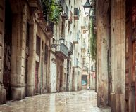 Old streets of Barrio Gotico Royalty Free Stock Photography