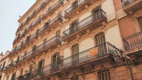 Old streets of Barrio Gotico in Barcelona, Catalonia. It is centre of old city of Barcelona. Center of touristic life. Old streets of Barrio Gotico in Barcelona stock video