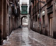 Old streets of Barrio Gotico Stock Photography