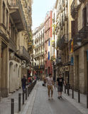 Old streets of Barrio Gotico in Barcelona, Catalonia Royalty Free Stock Images