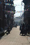 The old streets of Bhaktapur.Nepal Stock Photos