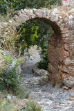 Old streets on the castle hill in Alanya. Royalty Free Stock Photography