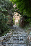 Old streets on the castle hill in Alanya. Royalty Free Stock Photo
