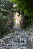 Old streets on the castle hill in Alanya. Stock Images
