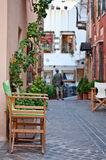 Old streets of Chania. Image taken on the old narrow streets in the historic side of Chania, Crete Royalty Free Stock Photos
