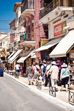 Old streets of Chania. Busy streets of cretan/greek old town of Chania. This image was taken in the historic part of the city with many tourists exploring the Royalty Free Stock Photography