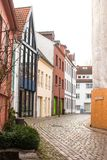 Old streets in the city of Bremen, Germany Stock Image