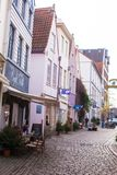 Old streets in the city of Bremen, Germany Royalty Free Stock Images