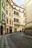 Old streets in the city of Prague Royalty Free Stock Photos