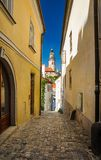At the old streets of Czech Krumlov, Czech Republic Royalty Free Stock Photos