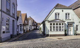 Old streets in the Danish village Tonder. In Jutland Royalty Free Stock Image