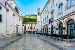 Old streets in Dubrovnik city, Croatia. royalty free stock image