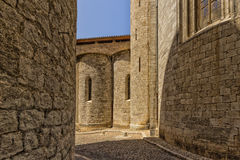 Old streets in Girona. Spain stock photos