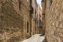 Old streets in Girona. Spain royalty free stock photography