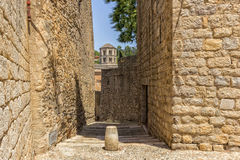 Old streets in Girona. Spain royalty free stock image