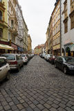 The old streets in the historic center of the Old Town of the Prague. Royalty Free Stock Photos