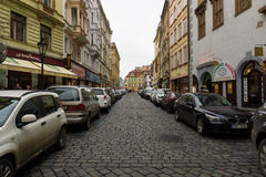 The old streets in the historic center of the Old Town of the Prague. Stock Images