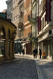 The old streets in the historic center of the Old Town of the Prague. Royalty Free Stock Photography