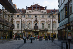 The old streets in the historic center of the Old Town of the Prague Royalty Free Stock Photos