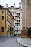 Old streets in the historic center of parma Royalty Free Stock Images