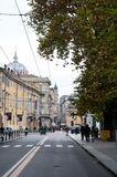 Old streets in the historic center of parma Stock Photography