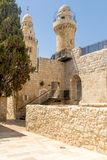 The old streets and houses of the ancient city of Jerusalem Stock Image