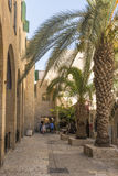 The old streets and houses of the ancient city of Jerusalem Royalty Free Stock Images