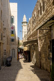 The old streets and houses of the ancient city of Jerusalem Stock Photography