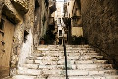 Old Streets and Houses in Senglea Royalty Free Stock Photography