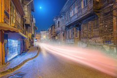Old streets of Istanbul by night Stock Image