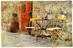 Old streets of Italy stock image