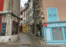 Old Streets of Le Puy en Velay, France Royalty Free Stock Photo