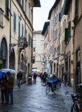 Old streets of Lucca, Italy Royalty Free Stock Photo