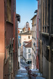 Old streets of Lyon city Royalty Free Stock Photo