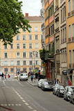 Old streets in Lyon, France Stock Images