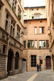 Old streets in Lyon, France Royalty Free Stock Images