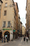 Old streets in Lyon, France Stock Photo