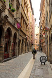 Old streets in Lyon, France Royalty Free Stock Photo