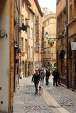 Old streets in Lyon, France Stock Photography